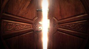 open door light vintage